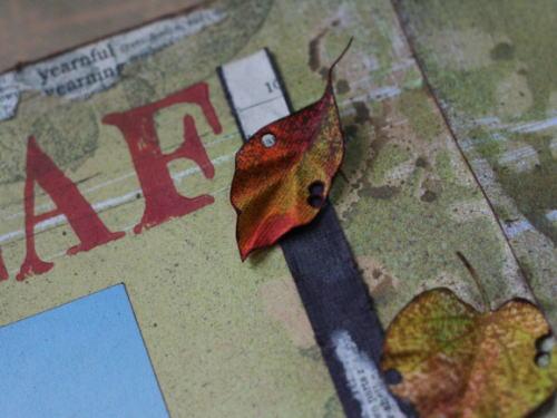 12インチレイアウト*枯葉のアクセント