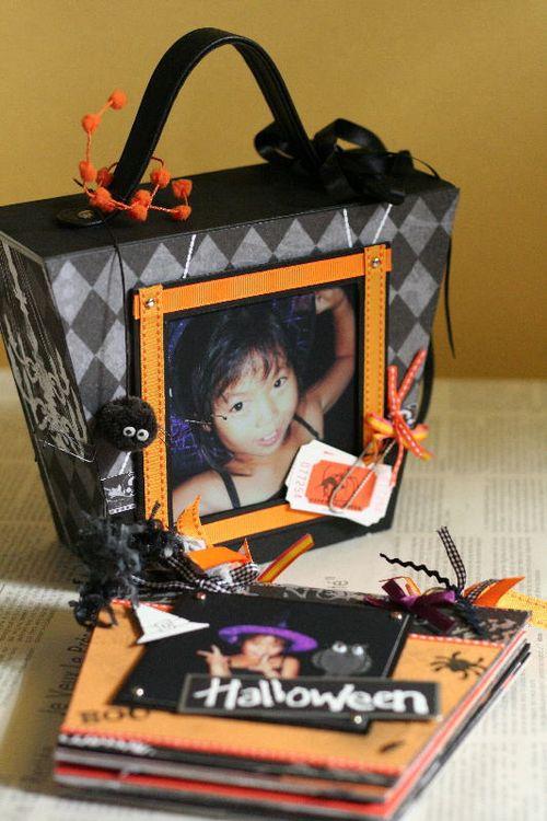 bag in Minibook 「ハロウィン」バック裏面