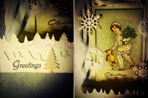 クリスマスカードハンギング