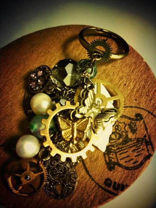 STEAMPUNK*指輪「蝶と歯車」